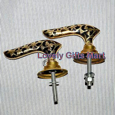 Victorian Brass Handmade Door Knobs Handle Architectural Antique Style • CAD $43.96