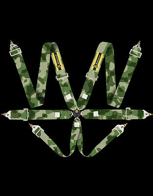 6 point camlock race harness FIA 8853/98 8854/98  camouflage