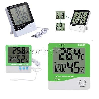 LCD Thermometer Hygrometer Weather Temperature Humidity Alarm Clock HTC-1/2/3/4