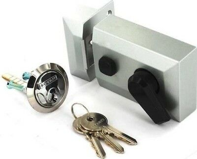 Securit Standard Lock Nightlatch Silver
