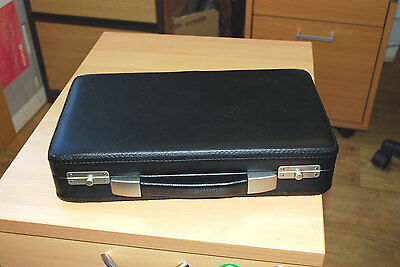 Small Leatherette - case not fitted inside.  Ideal for Jewelery, Craft Box, Etc.