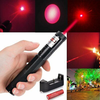 301 Military Red Laser Pointer Pen 650nm Burning High Power Lazer+18650+Charger
