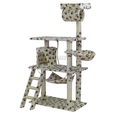 FoxHunter Kitten Cat Tree Scratching Post Sisal Toy Activity Centre BWP CAT064