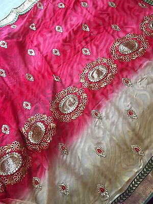 Indian Katan/ Banarasi Sari/Georgette /Fancy Embroidered Chiffon Silk Saree 534