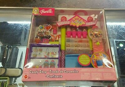 2003 Mattel Barbie Candy Shop with working gumball machine, New