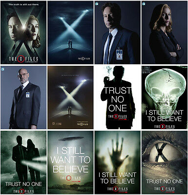 12pcs 2016 The X-Files Season 10 Postcards Promo Cards Photo Card Collection