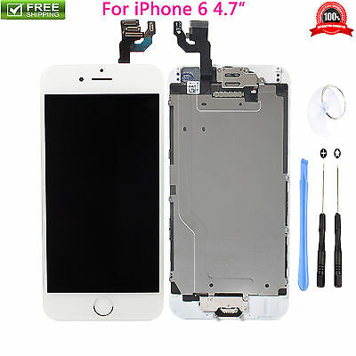 White LCD Display+Touch Digitizer Screen Assembly for iPhone 6 A1549,A1586,A1589