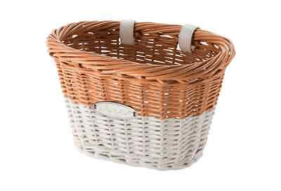 Huffy Chesapeake Wicker Bicycle Basket - Natural & White - NEW