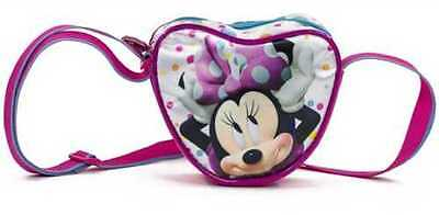 Girls Deluxe Official Disney Minnie Mouse  Heart Shape Shoulder Bags