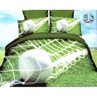 3D Duvet Quilt Cover Sport Bedding Set Basketball Rugby Football Skiing Single