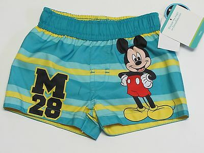 NWT Disney Mickey Mouse Infant Swim Suit Trunks Size Baby Boys 0-3 Months