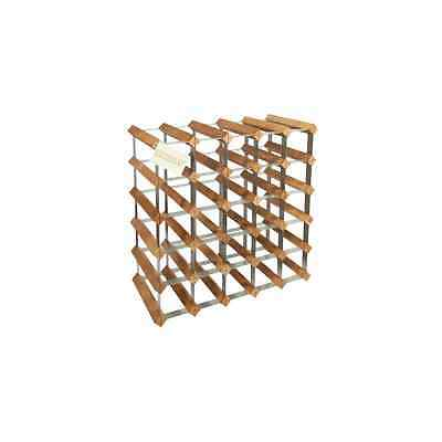 Woodluv 25 Bottles Wood Wine Rack Holder with Storage Stand Organiser - NEW