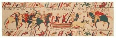 """New 56"""" X 18"""" Tapestry Wall Hanging Reproduction Of Part Of The Bayeux Tapestry"""