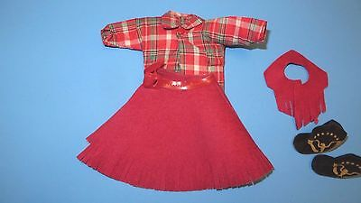1950s Nancy Ann StoryBook UNUSUAL DALE EVANS OUTFIT -skirt/belt/vest/boots/shirt