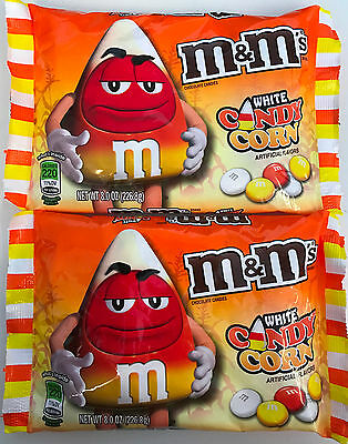 909690 2 x 226.8g BAGS OF WHITE CANDY CORN M&M's - CHOCOLATE CANDIES - HALLOWEEN