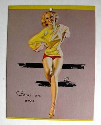 1940s Earl Moran Pin Up Girl Picture Seductive Blond Come on Over