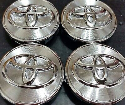 4 pcs, Wheel Emblem Center, Hub Caps, Toyota, Chrome's, 62 MM