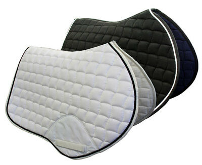 Caribu Jumping Saddle Pad. Suede Feel Outer, Available in Black/Navy/White