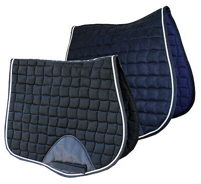 Caribu All Purpose Saddle Pad. Suede Feel Outer, Available in Black or Navy
