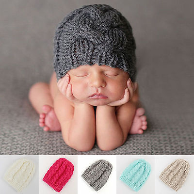 Newborn Baby Boys Girls Toddler Warm Knitted Crochet Hat Beanie Cap Photo Prop