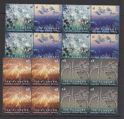 Australia AAT 2016 Ice Flowers set of 4 Blocks of 4