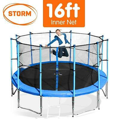 Storm 16FT Round Trampoline Safety Inner Net Set Spring Padding Cover Mat