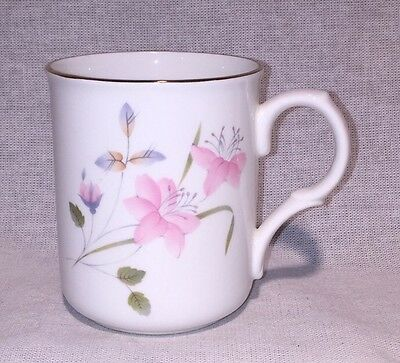 Crown Trent Fine Bone China Pink Floral Flowers Mug Cup Staffordshire (#16191)