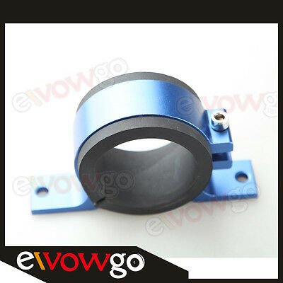 Fuel Pump Bracket Clamp Cradle Anodised Single Billet With 2 Inserts Blue