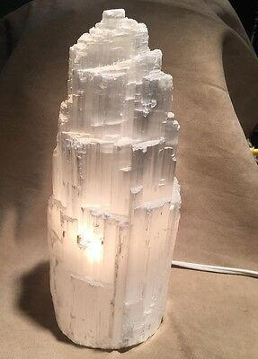 "Selenite Mountain Lamp ""Small"""
