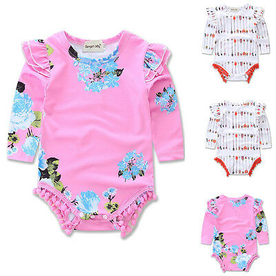Newborn Baby Girl Boy Long Sleeve Romper Infant Jumpsuit Bodysuit Clothes Outfit