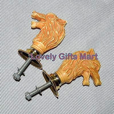 Vintage Antique Style Solid Metal Big Lion  Retro Entry Door Handle
