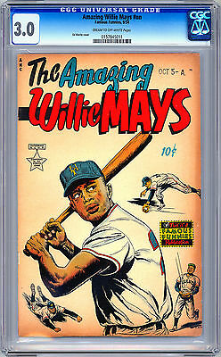 The Amazing Willie Mays Nn Cgc 3.0 Baseball Legend Lifestory Famous Funnies 1954