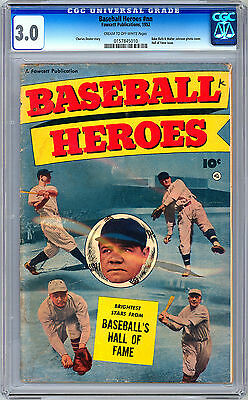 Baseball Heroes #nn Cgc 3.0 *babe Ruth & Walter Johnson Photo Cvr* Fawcett 1952