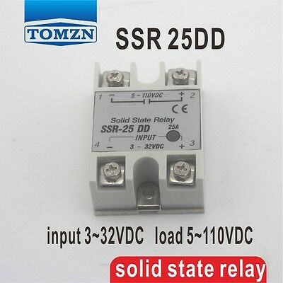 25DD SSR input 3~32VDC load 5~110VDC solid state relay