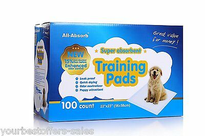 All-absorb 100 Count Training Pads, All-Absorb Training Pads 22-inch By 23-inch