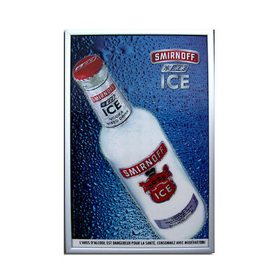 Quadro Vodka Smirnoff 3D manifesto arredo bar pub tridimensionale kit stock raro