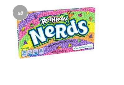 909864 BOX OF 12 x 141.7g PACKETS OF RAINBOW NERDS - TINY TANGY CRUNCHY CANDY!