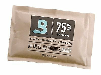 Boveda 75% RH 2-way Humidity Control, Large 60 gram, individually wrapped (60g)