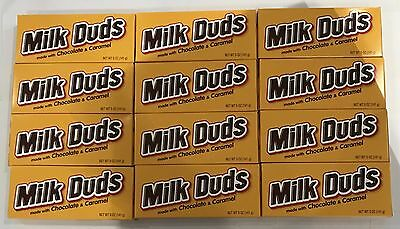909866 BOX OF 12 x 141g PACKETS OF MILK DUDS - MADE WITH CHOCOLATE & CARAMEL!