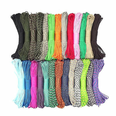 Hot Sell 550 Paracord Parachute Cord Lanyard Mil Spec Type III 7 Strand Core F7T