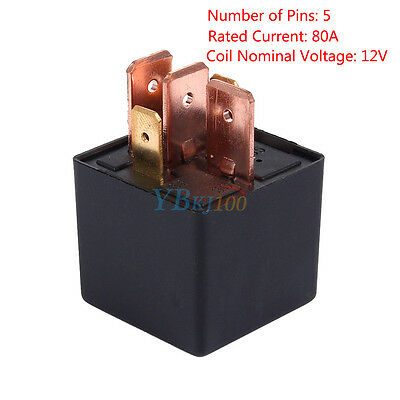 Heavy Duty Split Charge ON/OFF Switch Relays DC 12V 5 Pin 80A Car Van Automotive