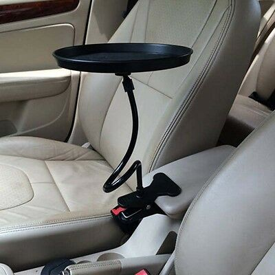 Car Swivel Mount Holder Travel Drink Cup Coffee Table Stand Food Tray new