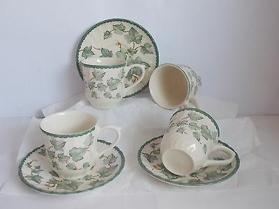 BHS COUNTRY VINE  x 4 CUPS AND SAUCERS