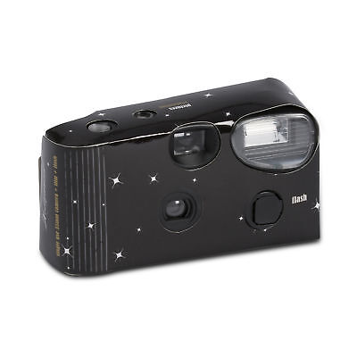 Hollywood Style Black with Stars Disposable Camera Party Pack of 10