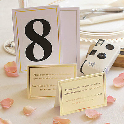 Wedding Camera Cards with Foil Border Two Classic Silver and White