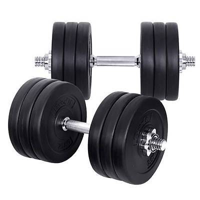 35KG Dumbbell Weights Plate Set Fitness Home Gym Exercise Commercial Adjustable