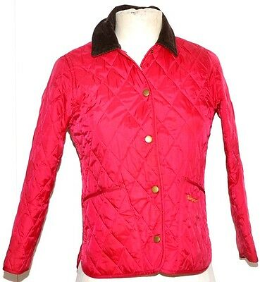 Barbour Childrens  Shaped Liddesdale Quilted Jacket Size S / 6/7  Pink