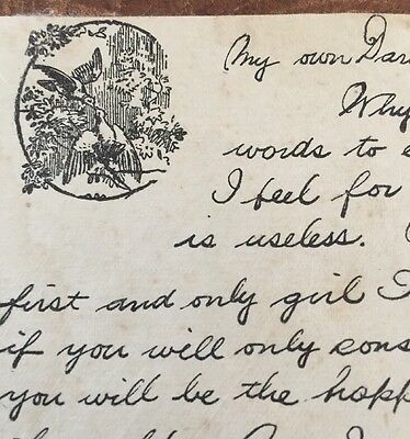 Antique Love Letter Hand Written From 1824 Bible Marriage Proposal Romantic