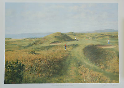 JONATHAN MITCHELL Signed Golf Print THE POSTAGE STAMP ROYAL TROON Famous Grouse