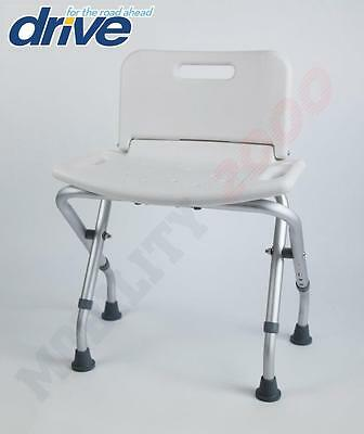 Lightweight Aluminium Folding Shower Stool Bath Seat Bench Chair With Backrest